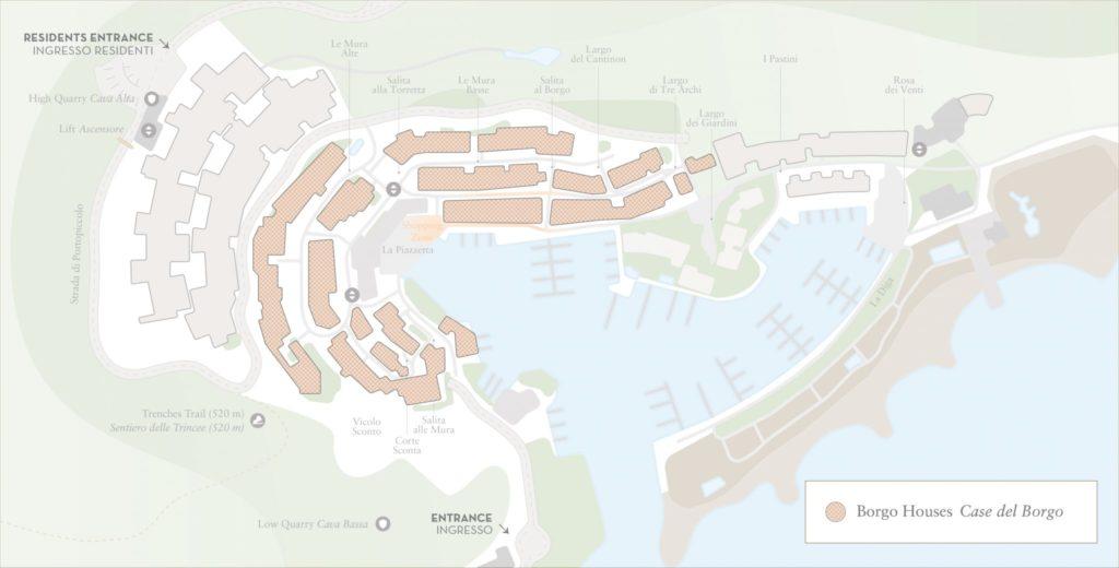 mappa case del borgo